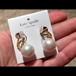 HOST PICK Kate Spade Pearl Lever Back Earrings